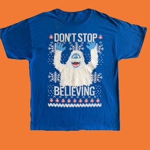 """Vintage Bumble """"DON'T STOP BELIEVING"""" Tee Shirt"""